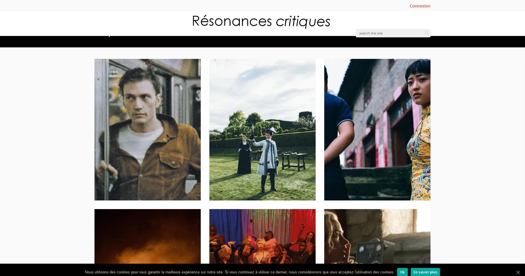 Résonances Critiques Revue Critique Cinéma